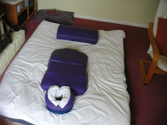 Shiatsu Massage Therapy Setup