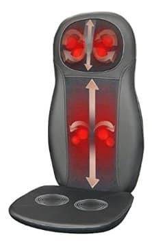 Zyllion ZMA-14-BK Shiatsu Neck and Back Massage Pad for Chair