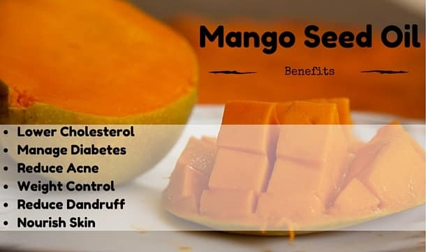 Mango seed oil health hair and skin benefits listed
