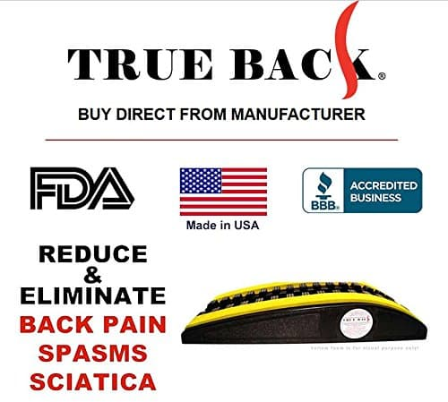 True Back Orthopedic Back Stretcher Banner