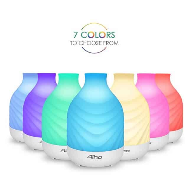Aiho Essential Oil Diffuser 7 Colors to Choose From