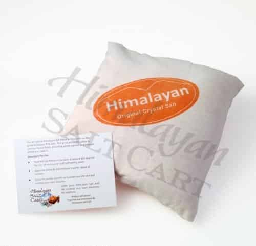 Himalayan Salt filled Therapeutic Pillow 7 x 7 homeopathic crystal spa remedy