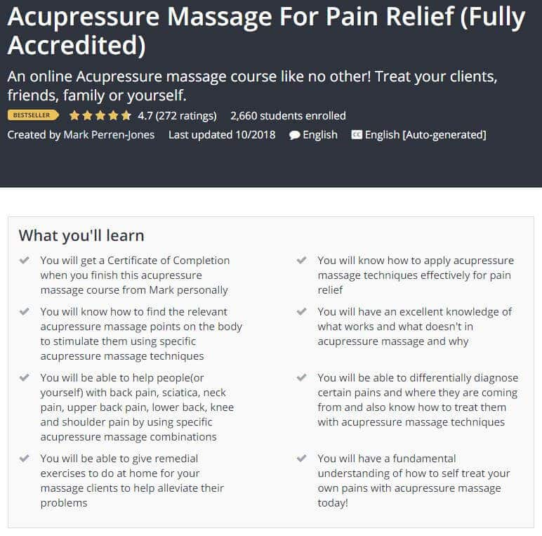 Acupressure Massage for Pain Relief Course