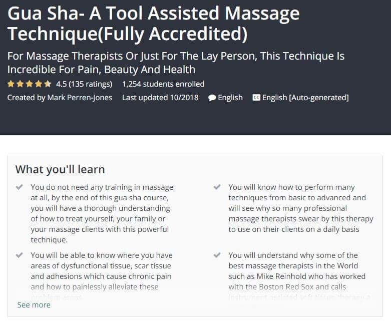 Gua Sha A Tool Assisted Massage Technique Course