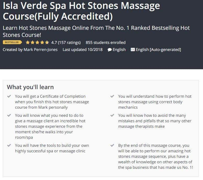 Isla Verde Spa Hot Stones Massage Course
