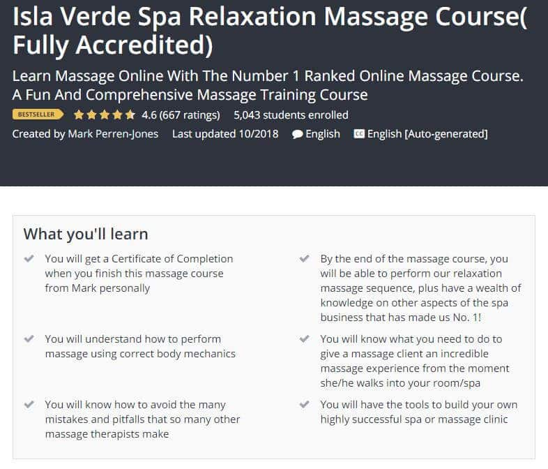Isla Verde Spa Relaxation Massage Course